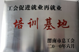 2010年6月 渭南市总工会授予工会促进就业再就业培训基地.jpg